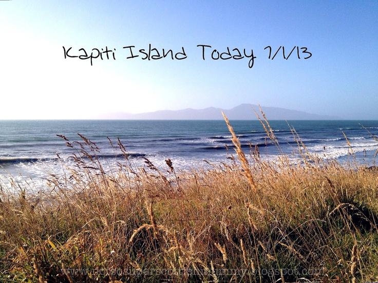 Not So Super Scottish Mummy: Kapiti Island Today 7/1/13 x 2!  6.45pm
