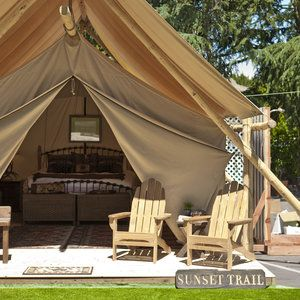 Tent camping redefined: Outdoor porch