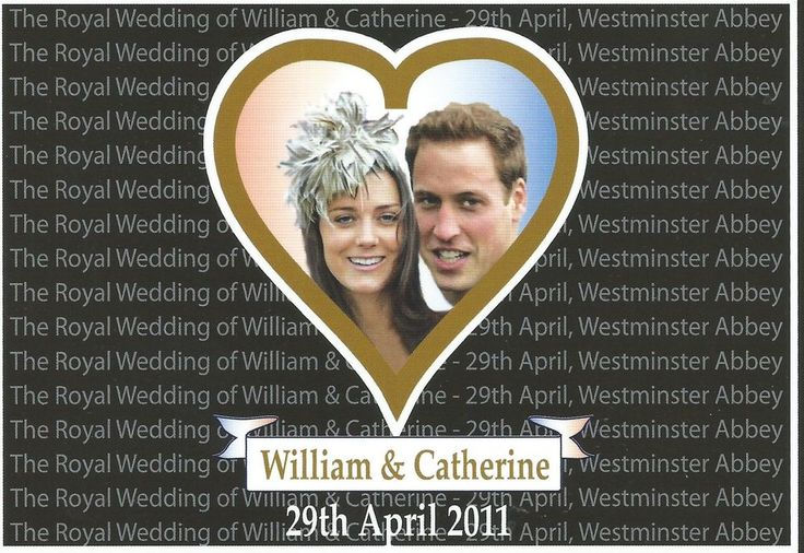 PRINZESSIN KATE-PRINZ WILLIAM-WINDSOR-Adel-ROYAL WEDDING-ORIGINAL POSTCARD-2011