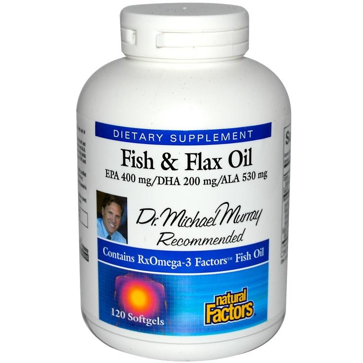 Natural Factors, RxOmega3 & Flax Oil, 120 Softgels