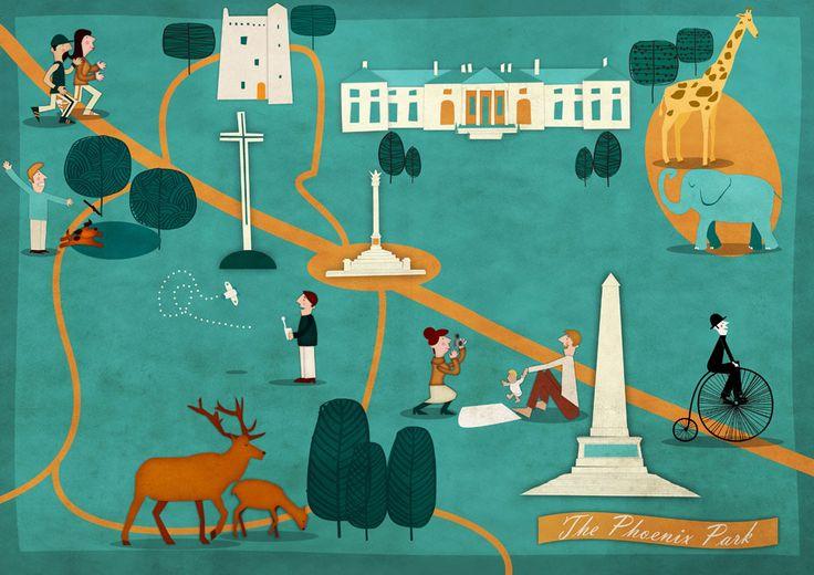 Phoenix Park Map Illustration by Jennifer Farley