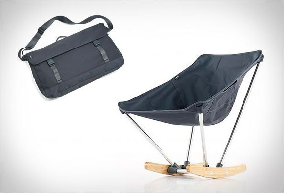 The 'evrgrn Campfire Rocker' is a Flexible Chair Made for Camping #rockingchairs trendhunter.com