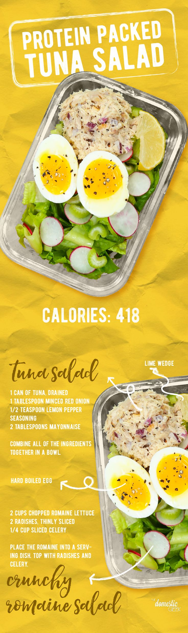 Protein Packed Tuna Salad Box! Do this without the mayo.. instead use avocado or olive oil.