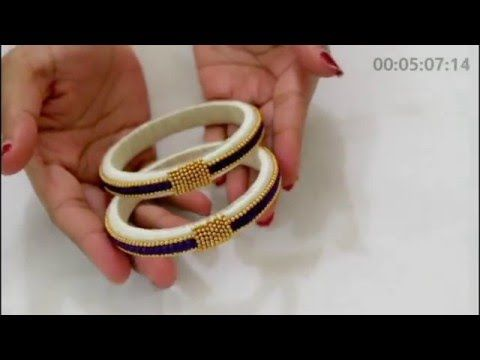 How to make Silk Thread Bangles ! Design 2 - YouTube