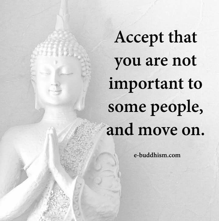As they are not important to you.. #MeditationIsKey