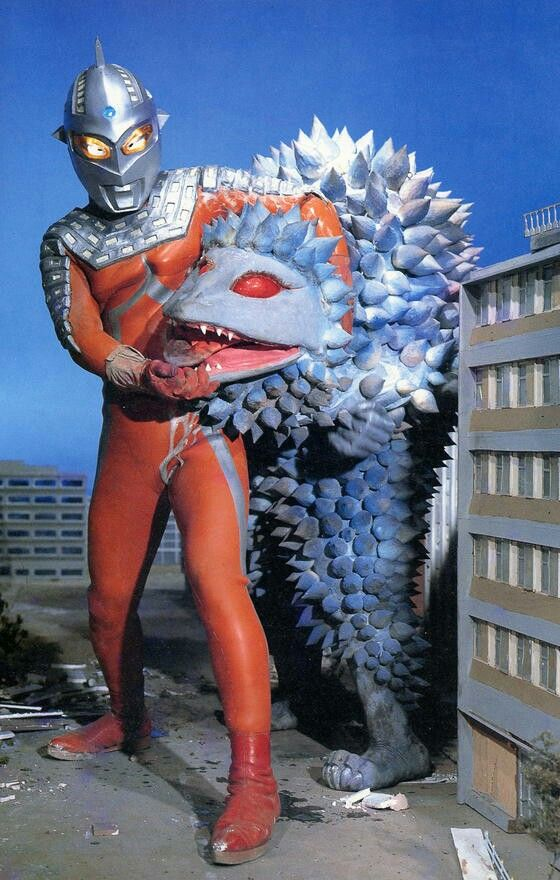 "Ultrasven vs. Dancan (ダンカン) the foam-like kaijyu from Ultraseven Episode 34 ""The Vanishing City"" aired on 26 May 1968."
