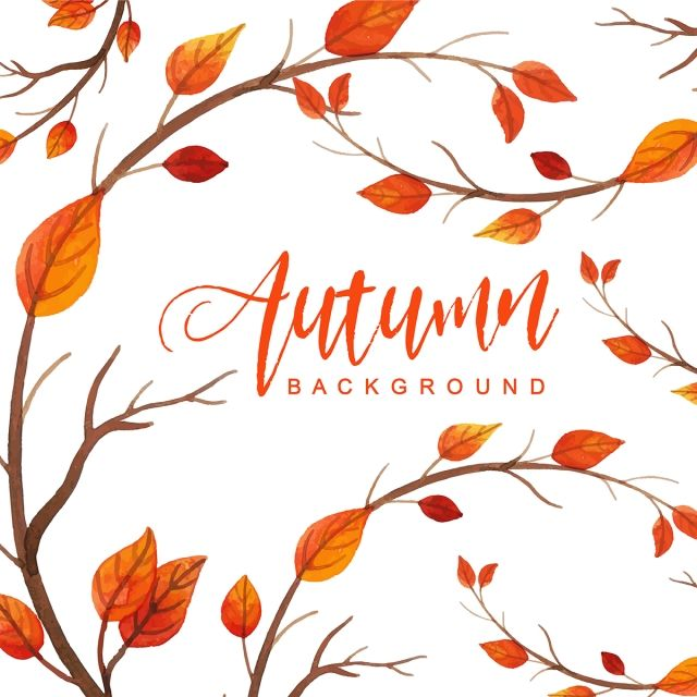 Beautiful Watercolor Autumn Leaves Background Watercolor Paint