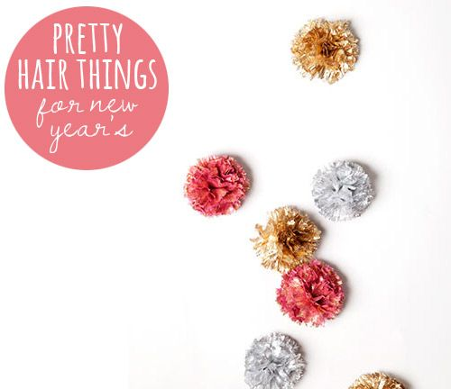 Perfectly pretty hair accessories for New Year's Eve from Babble.com