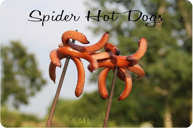 Spider Hot Dogs Campfire Cooking {recipes}