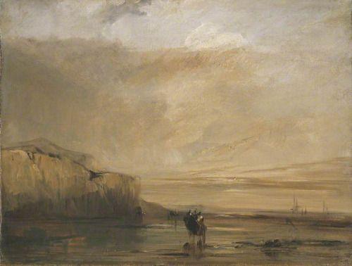 Centuries Past, Pays de Caux: Twilight Richard Parkes Bonington...