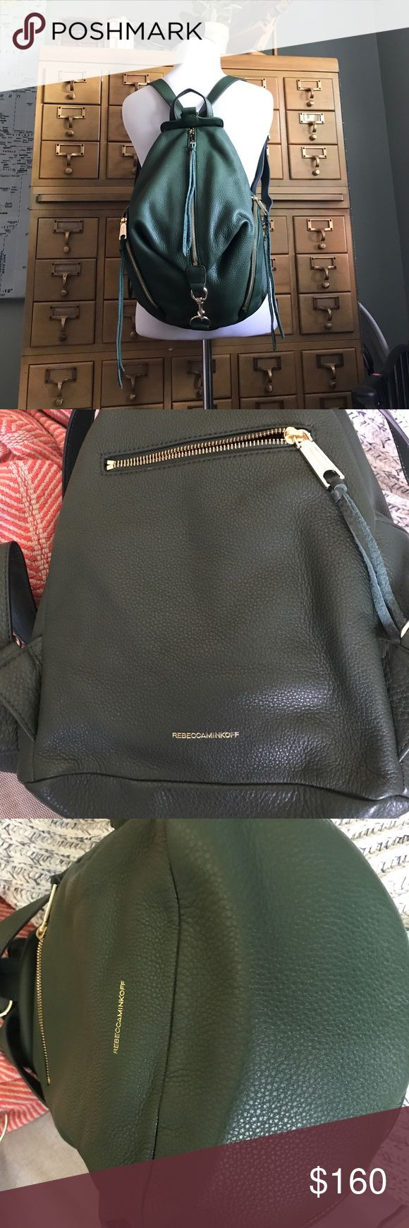 Like new Rebecca Minkoff Julian Backpack Used just once! Like new dark green Rebecca Minkoff backpack with gold hardware. Awesome bag - even works as a diaper bag! Rebecca Minkoff Bags Backpacks