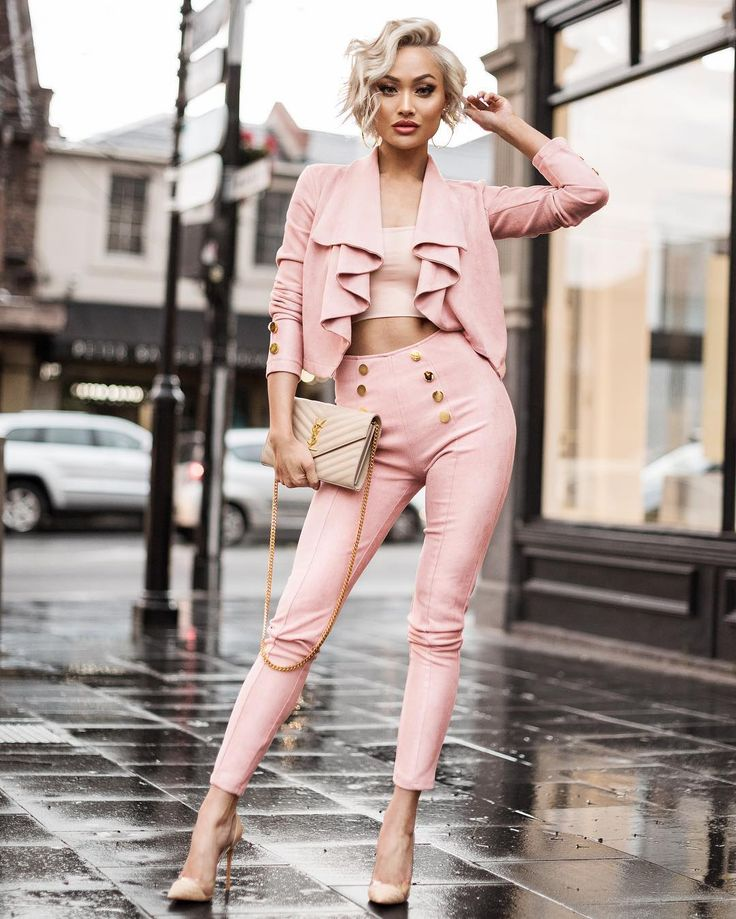 Micah Gianneli - A little rain won't stop the slayin'  Jacket & pant from @hotmiamistyles