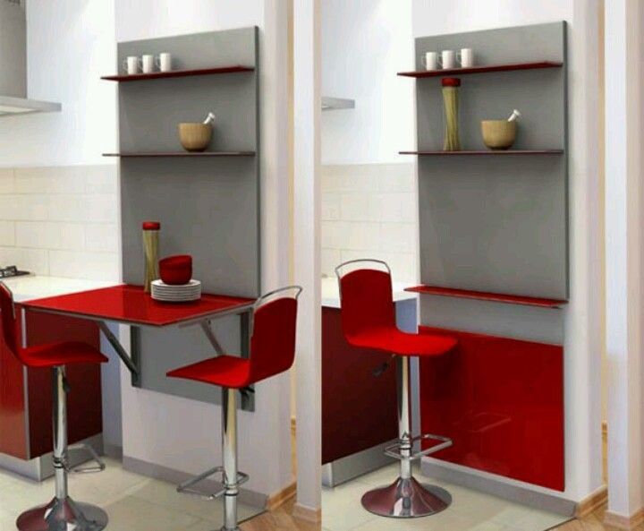 Mesas abatibles de diseño moderno #ideasparadecorar #hogar #cocina fuente: www.milideas.net