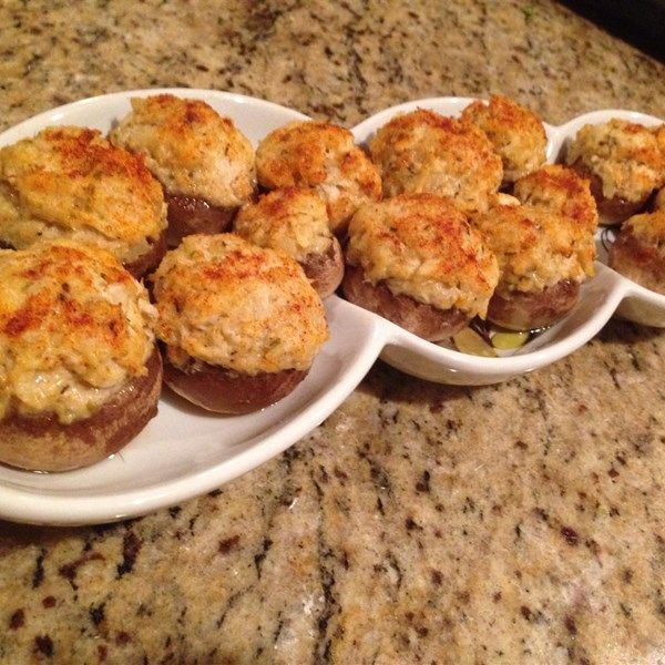 """Crab Stuffed Mushrooms   """"These were very tasty and very easy! I made these with Portobello mushrooms and served them as an entree."""""""