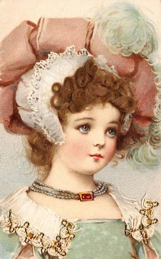 Frances Brundage - Postcard (Real Hair)