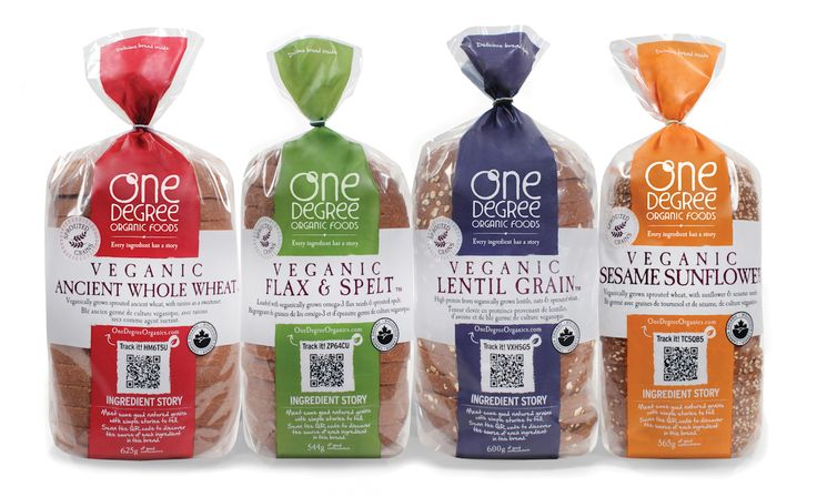 One Degree Organic Foods Veganic Sprouted Breads organic