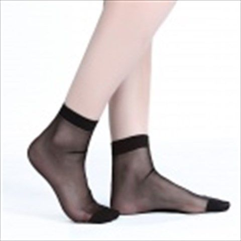 ZHIBUREN Autumn And Winter Warm Crystal Silk Socks - Black (5 Pair)