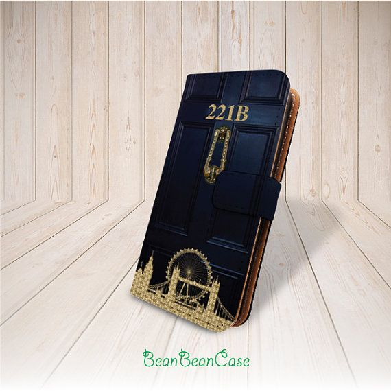 221b sherlock holmes baker flip pu leather case for iPhone 6 , Moto X and samsung galaxy phone case by BeanBeanCase