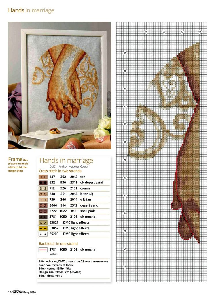 Hands In Marriage (Maria Diaz) From Cross Stitch Collection N°261 May 2016 3 of…