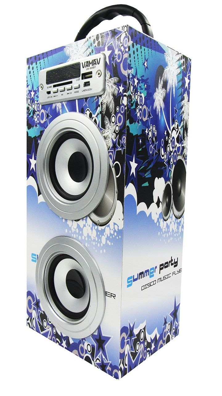 Altavoz Caja Portátil con Bluetooth, Radio, SD, USB, MP3, Inalámbrico y Con Batería Recargable 996110 - http://complementoideal.com/producto/audios/altavoz-caja-portatil-con-bluetooth-radio-sd-usb-mp3-inalambrico-y-con-bateria-recargable-996110/  - Altavoz con el que podrás escuchar toda tu música sin necesidad de cables y en cualquier lugar, conecta todos tus dispositivos medianteBluetooth fácilmente y comienza a divertirte. Altavoz compatible con iPhone, iPad, Mó