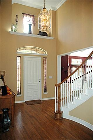 They Call It A Plant Ledge What Do You With Decorating Two Story Foyer Shelf Above Living Room Library Entry Stairs In