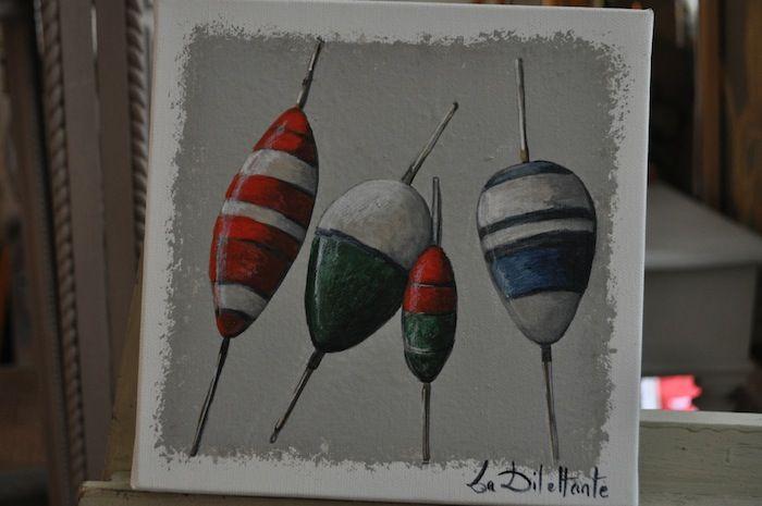 Flotteurs multicolores...