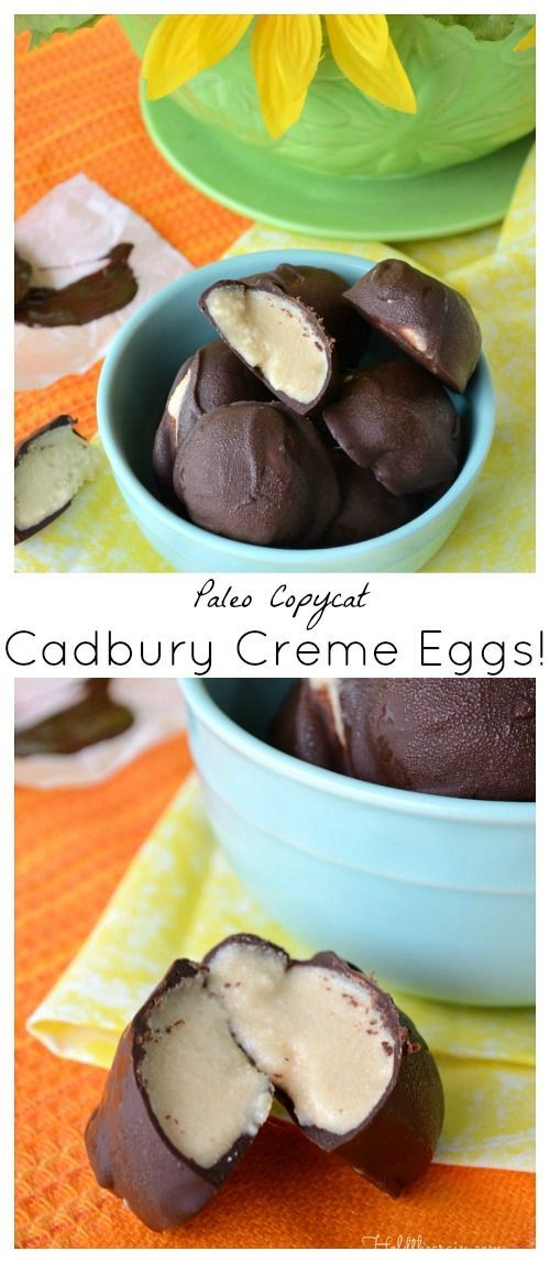 Copycat Cadbury Creme Eggs for a paleo/primal Easter!