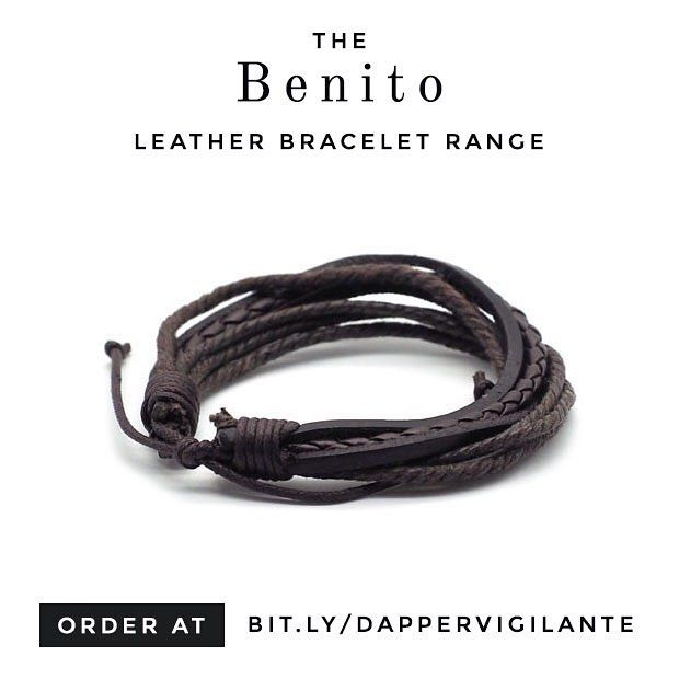 The Benito men's leather bracelet is perfect for the everyday adventurer, with it's worn leather look, and worldly appeal.