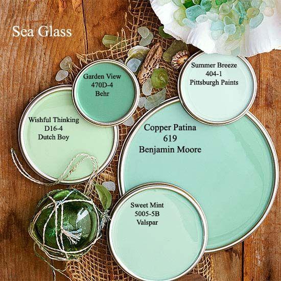 Sea Glass paint colors via BHG.com COPPER PATINA - KITCHEN