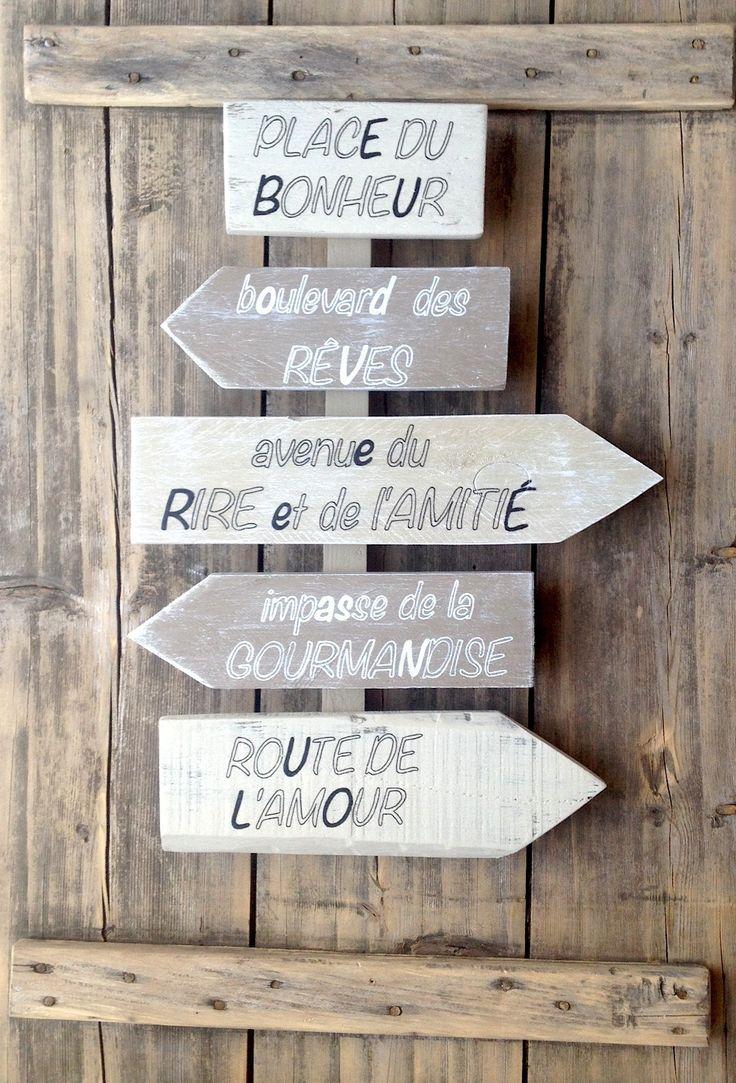 25 best ideas about panneau de direction on pinterest panneaux de directio - Recup palette de bois ...