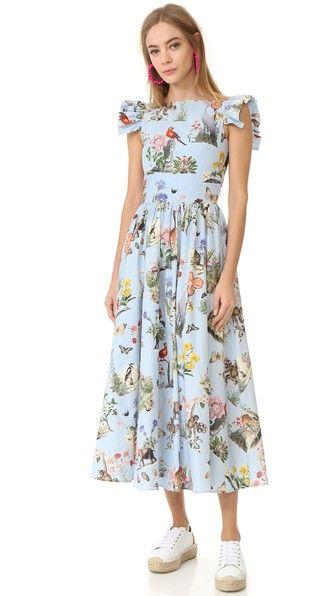 Vivetta Short Sleeve Printed Dress | SHOPBOP