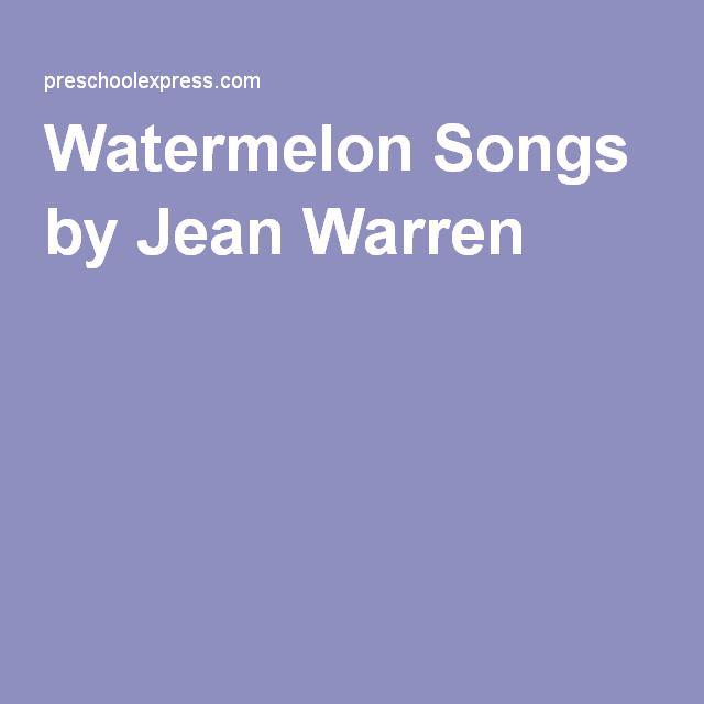Watermelon Songs by Jean Warren