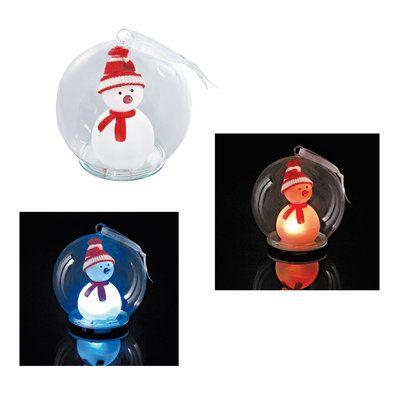 Die stimmungsvolle Glaskugel Snowman als #Weihnachtspräsent für Ihre Kunden sorgt für vorweihnachtliche Stimmung im Büro oder auch zu Hause.