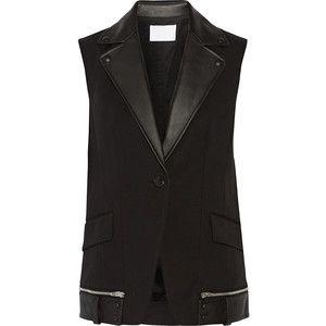 Alexander Wang - Leather-trimmed Cotton-blend Vest