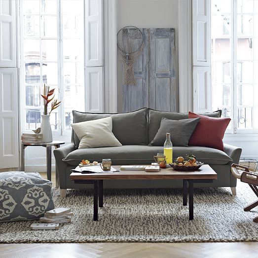 Industrial Coffee Table And Bliss Sleeper Sofa | West Elm