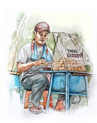 jatmika sketch & drawing: Penjual Tahu Gejrot