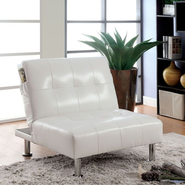 Leather Lounge Chair Modern Tufted Ottoman Chaise Couch White Contemporary Bed #Doesnotapply #Modern