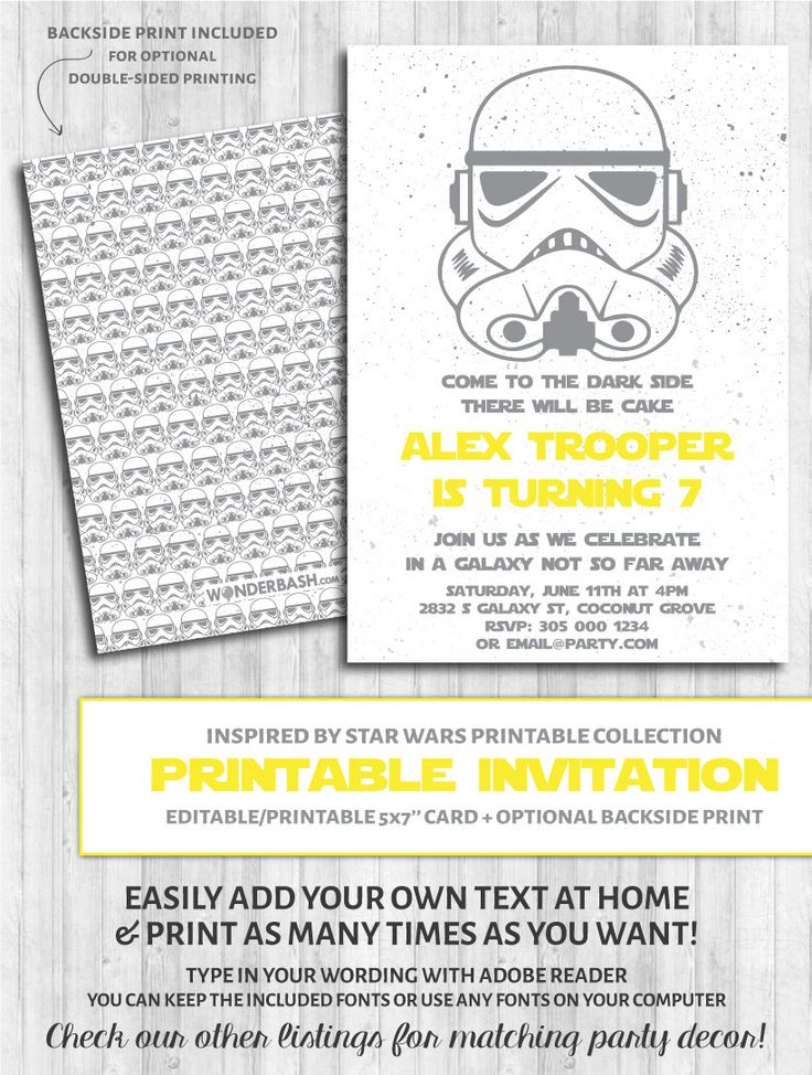 Best 25+ Star wars invitations ideas on Pinterest | Star wars ...