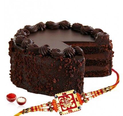 Dark Chocolate Cake with Rakhi