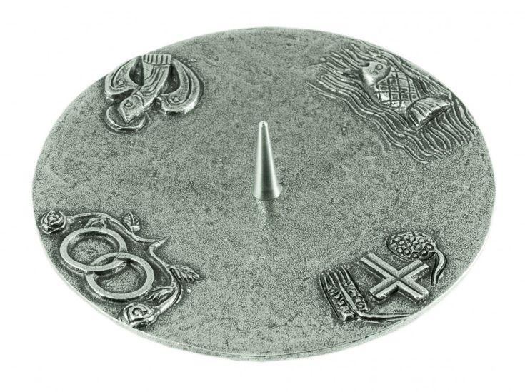 kerzenst nder 4 christliche symbole silberbronze 15 cm. Black Bedroom Furniture Sets. Home Design Ideas