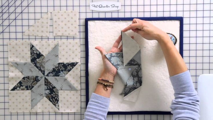 How to Sew a Basic Y-Seam in a Quilt Block by Edyta Sitar of Laundry Bas...