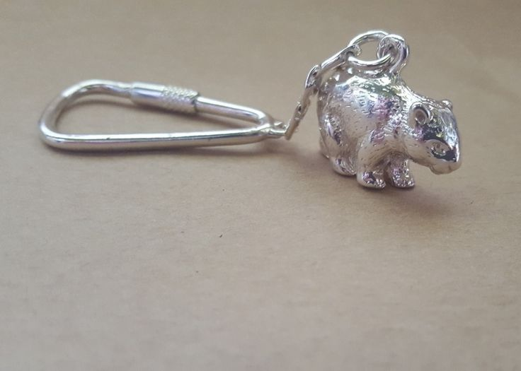 Keyring - WOMBAT - Sterling Silver