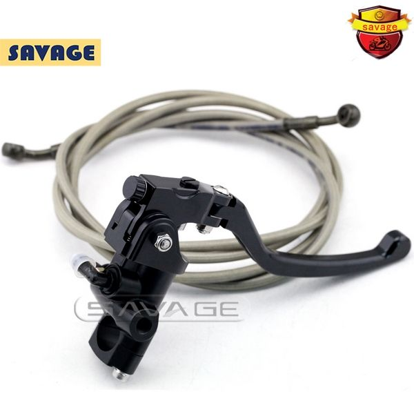 (98.78$)  Watch now - http://ai8g3.worlditems.win/all/product.php?id=32636290249 - Motorcycle Left Side Radial Master Cylinder Stunt Bike Brake system Brake Lever & Hydraulic Steel Braided Brake Oil Hose