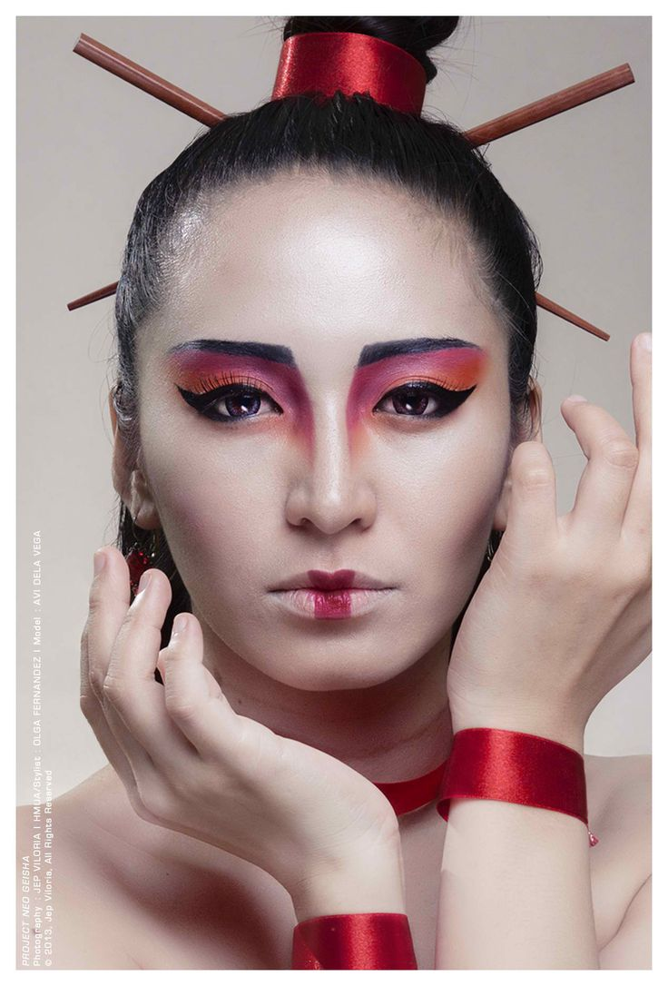 how to make geisha makeup