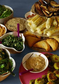 mezze végétarien / vegan mezze / Cléa cuisine