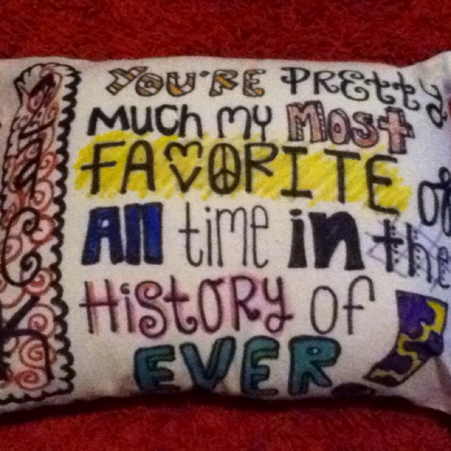 Cute Pillow For Boyfriend : A pillow I made my boyfriend for his birthday!!