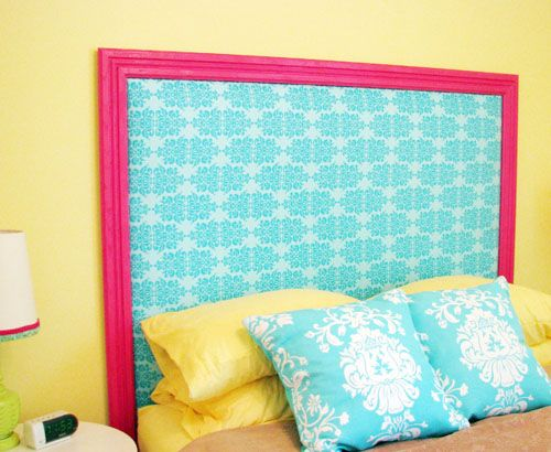 May do this for little girls 39 room http pinkgrapefruit for Do it yourself headboards with fabric