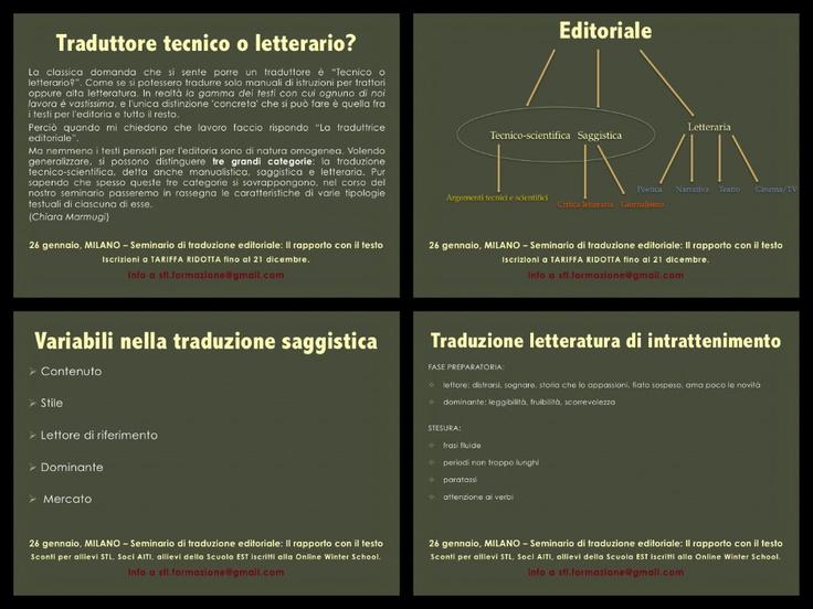 26 gennaio - Milano. Alcuni degli argomenti del corso
