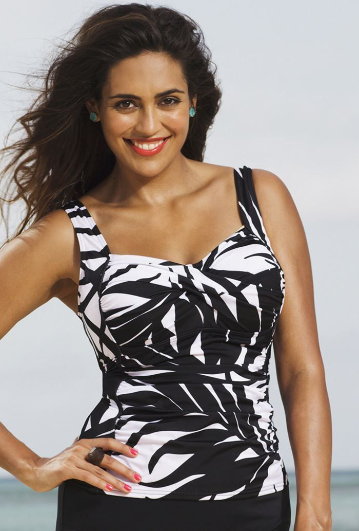 Plus Size Phoenix Twist Front Tankini Top