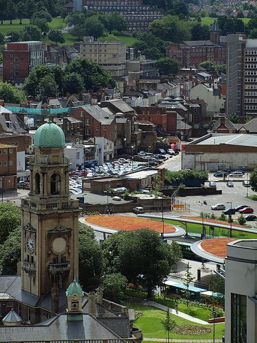 Chatham town centre from Fort Amherst